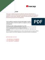 MÉTODOS DE COCCION-APUNTE