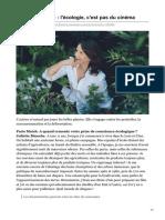 parismatch.com-Juliette Binoche  lécologie cest pas du cinéma