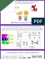 Paso de mixtos a fraccion impropias y porcentajes a decimales