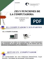 LAS PARTES Y FUNCIONES DE LA COMPUTADORA