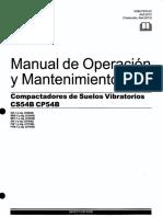 Manual de operación rodillo compactador CS54B - CP54B