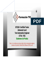 ISTQB® Certified Tester Advanced Level - Test Automation Engineer (CTAL-TAE) - Exámenes de Prueba