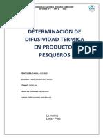 laboratorio de difusividad termica
