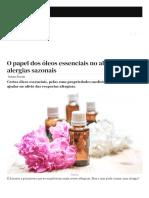 O papel dos óleos essenciais no alívio das alergias sazonais - Fitness e bem-estar - SAPO Lifestyle