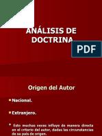 1. Analisis de doctrina