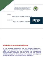 OBJETIVOS - CARACTERISTICAS