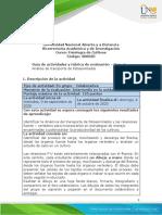 Guia de actividades y Rúbrica de evaluación - Unidad 1 - Fase 2 - Análisis de transporte de fotoasimilados