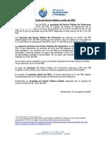 Comunicado MEF Déficit Fiscal