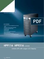 HP 9116C series, 6-20KVA _ Brosur