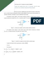 Videoaula 37 – Amplificador Operacional – Exemplo de cálculo da RRMC