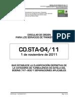 CO.STA 04 -11 Estela turbulenta B747-800