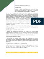 ACTIVIDAD DE COMPRENSION Y PRODUCCION TEXTUAL