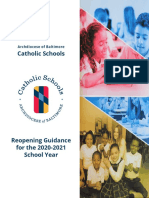 Archdiocese of Baltimore Catholic Schools Reopening Guidance