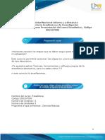 Presentación del curso Estadística  en formato pdf.