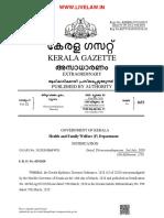 Kerala Gazette Covid 19