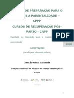 Orientações Para a Realização Dos Cursos de Preparação Para o Parto e Parentalidade e Cursos Para a Revisão Pós Parto - Versão Para Discussão Pública