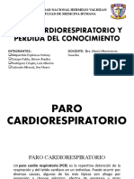 Paro Cardiorespiratorio y Reanimación Cardiopulmonar FINAL
