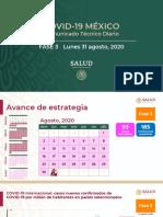 CP Salud CTD Coronavirus COVID-19, 31ago20