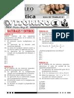 SISTEMA DE NUMEROS NATURALES Y ENTEROS 1 INTENSIVO (VICTOR HUGO)