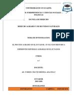 PROCESO AGRARIO EN EL ECUADOR, Y SUS REFORMAS 1.docx