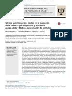 Género y victimización.  Efectos en la evaluación de la violencia psicológica Mercedes novo y otros