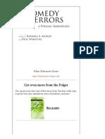 The Comedy of Errors PDF Folger Shakespeare