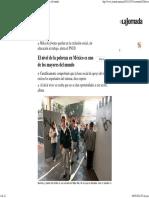2011-10-31 La Jornada_ El nivel de la pobreza en México es uno de los mayores del mundo