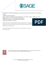 Rosenfield, Sarah.  The Effects of Women's Employment Personal Control and Sex Differences in Mental Health