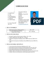 Curriculum Vitae Chaerul Reza Mahendra