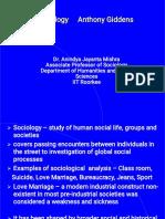 Sociology Giddens Class Intro IIYr