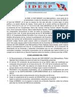 CONCLUSIONES DEL FORO MODIFICATORIA DE LA LEY 30512