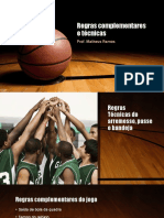 Regras complementares e técnicas do basquete