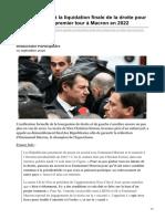 Estrosi appelle à la liquidation finale de la droite pour se rallier dès le premier tour à Macron en 2022