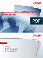 Ruijie S8600E Series Switches Management and Software Update