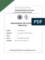 Monografia control prenatal -Ramirez