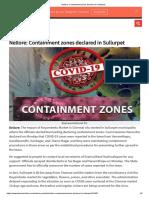HansIndia - 11.05.2020 - Nellore_ Containment zones declared in Sullurpet