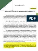 10.18 Aprendizaje hoy N 18 ABORDAJE CLINICO DE LOS TRASTORNOS DE APRENDIZAJE - Marina Müller 6pags