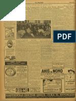 La Nación. 26-11-1927 - Estreno de Antaño
