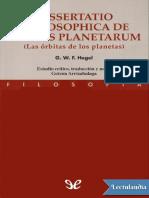 Las orbitas de los planetas - Georg Wilhelm Friedrich Hegel