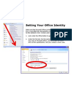 Setting Office Identity