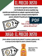 JUEGO EL PRECIO JUSTO