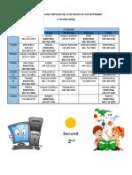 Horario Virtual  Segundo Primaria Para Estudiantes Agosto 31 - Bimestrales Baja (1)