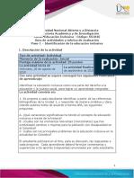 Guía de actividades y Rúbrica de evaluación - Paso 1 - Identificación de la educación inclusiva