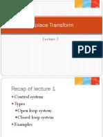 Lecture 2 Laplace Transform