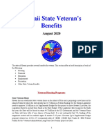 Vet State Benefits - HI 2020