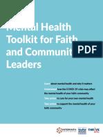 Mental HealthToolkit for Faith and CommunityLeaders -Thrive NYC