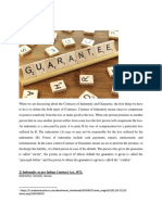 contract of indemnity and guarantee (article 3)