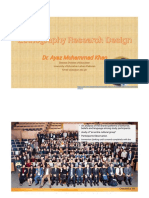 Ethnography Research Design by Dr. Ayaz Muhammad Khan