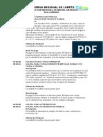 MODELO ESPECIFICACIONES TECNICAS INSTALACIONES ELECTRICAS