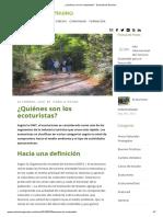 ¿Quiénes son los ecoturistas_ - Ecoturismo Genuino.pdf